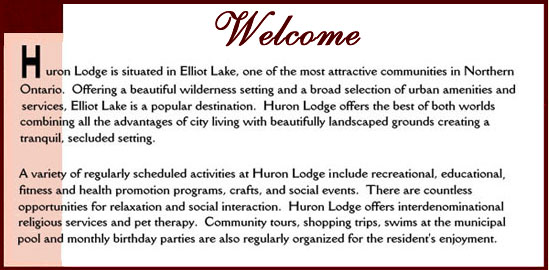Welcome to Huron Lodge